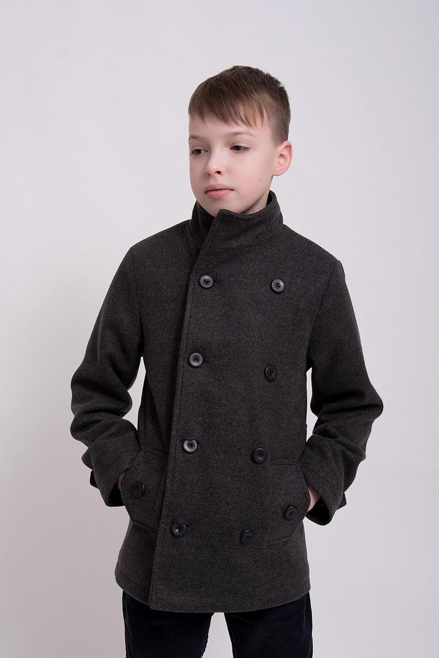 Детское пальто демисезонное кашемировое для мальчика Алекс| на рост 128, 134, 140, 146, 152