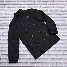 Детское пальто демисезонное кашемировое для мальчика Алекс| на рост 128, 134, 140, 146, 152, фото 3