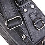 Поясная сумка Vintage 14389 кожаная Черная, фото 6