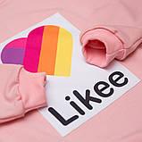 Свитшот утепленный для девочки р.128,134,140,146,152 SmileTime Likee, светло-розовый, фото 3