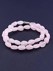 Браслет на руку SUNSTONES из натурального камня Розовый кварц 35 см
