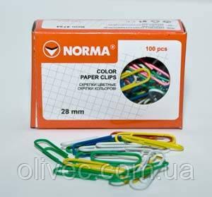 """Скрепки """"Norma"""" 28 мм. 100 шт."""