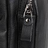 Сумка чоловіча Vintage 14521 шкіряна Чорна, фото 7