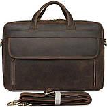 Сумка для ноутбука Vintage 14522 кожаная Коричневая, фото 3