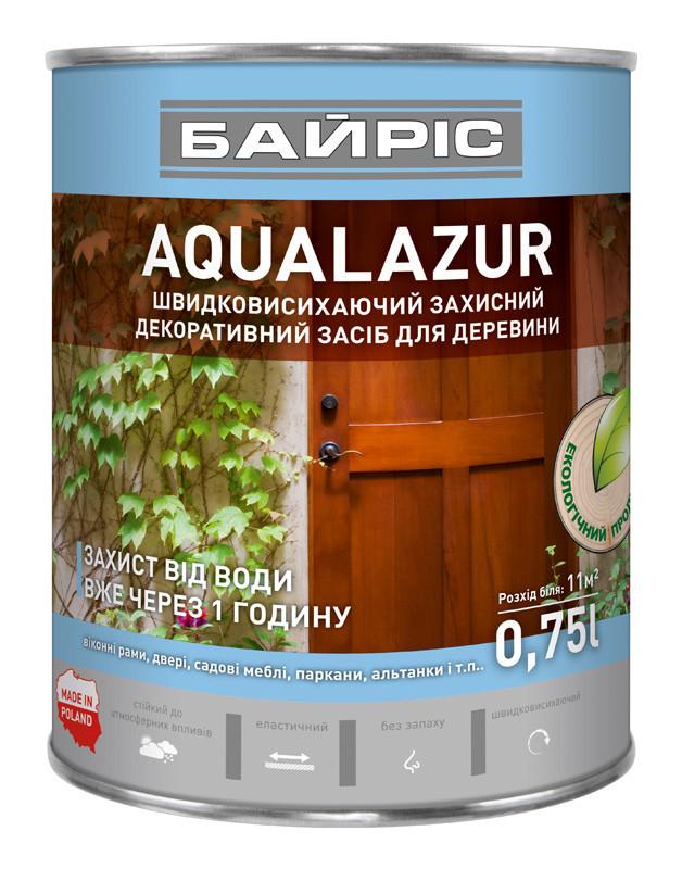 Aqualazur швидковисихаюча БАЙРІС коричнева 0,75 л   /6шт/