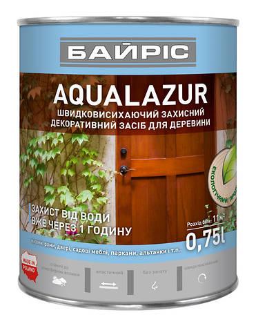 Aqualazur швидковисихаюча БАЙРІС коричнева 0,75 л   /6шт/, фото 2