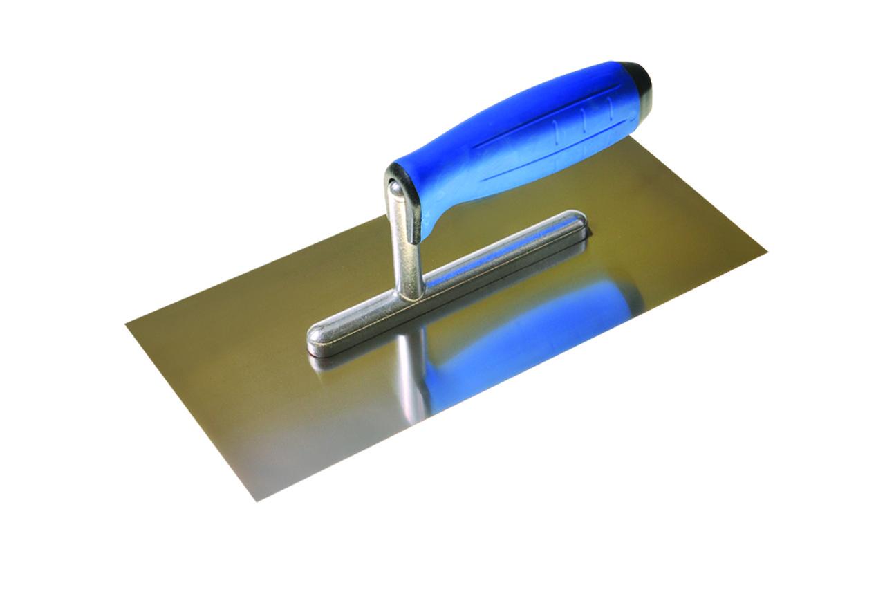 Терка гладилка з нержавійки з алюмінієвою ручкою 2К PAC0719 PAINTER 270мм*130мм   /24шт/