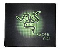 Коврик под мышку 290 х 250 мм прошитый Black-Green (MP-Mantis02)
