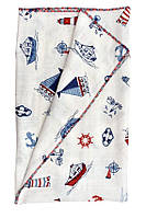Плед, одеяло, конверт для новорожденных детское для девочки с рисунком