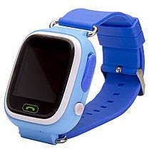 ✓Смарт-годинник UWatch Q90 Blue дитячі Wi-Fi з GPS трекером Блютуз 400 маг Android IOS, фото 2