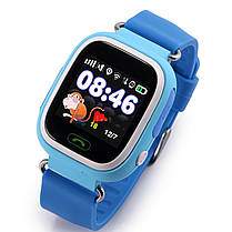 ✓Смарт-годинник UWatch Q90 Blue дитячі Wi-Fi з GPS трекером Блютуз 400 маг Android IOS, фото 3