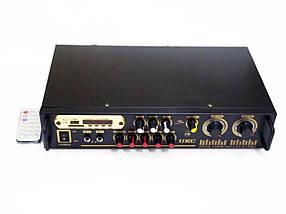 Підсилювач звуку UKC AV-106BT USB + КАРАОКЕ 2микрофона