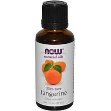 100% Эфирное масло Мандарина Now Foods Essential Oils Tangerine, 30ml