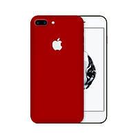 Защитная виниловая наклейка для iPhone 8 plus красный матовый. Чехол для задней поверхности телефона