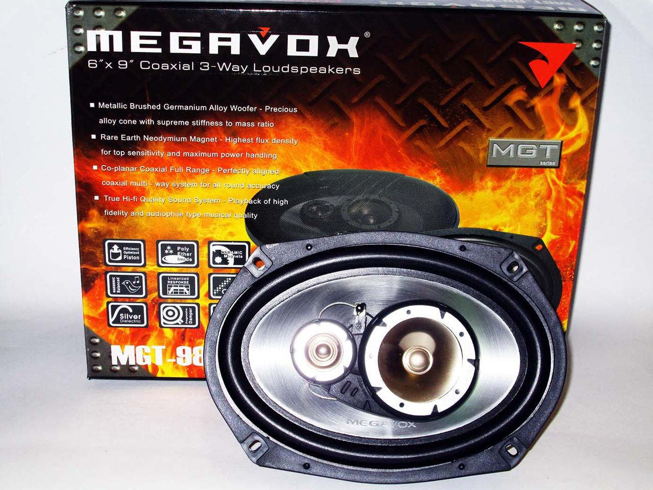 MEGAVOX MGT-9836 6x9 овалы (500W) трехполосные
