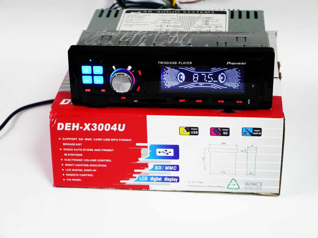 Автомагнитола Pioneer DEH-X3004U - USB+SD+FM+AUX