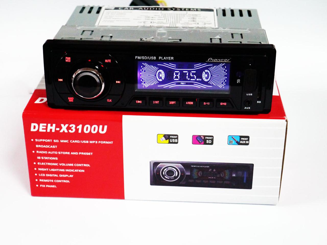 Автомагнитола Pioneer DEH-X3100U - USB+SD+FM+AUX