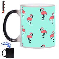 Чашка-хамелеон Розовый фаминго 330 мл