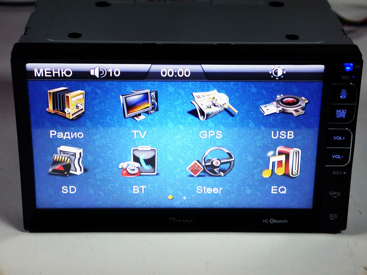 Магнитола Pioneer PI-713 2din GPS+USB+BT+TV