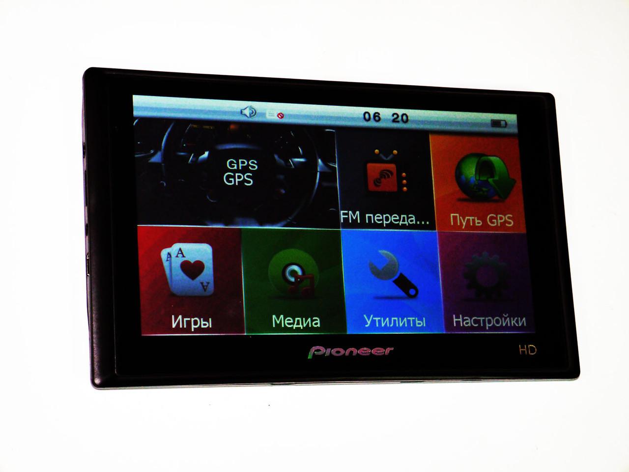 "7"" GPS навигатор Pioneer HD 4Gb+FM + НОВЫЕ КАРТЫ"