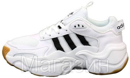 Мужские кроссовки adidas Magmur Runner White Aдидас белые, фото 2