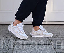 Мужские кроссовки Sacai x Nike LDV Waffle White (Найк) белые, фото 2