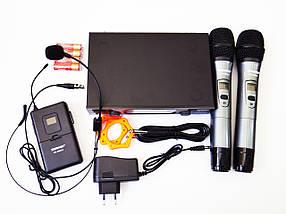 Радіосистема Shure SH-600G3 база 2 радіомікрофона + гарнітура