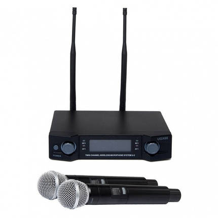 Радиосистема Shure UGX66 база 2 радиомикрофона, фото 2