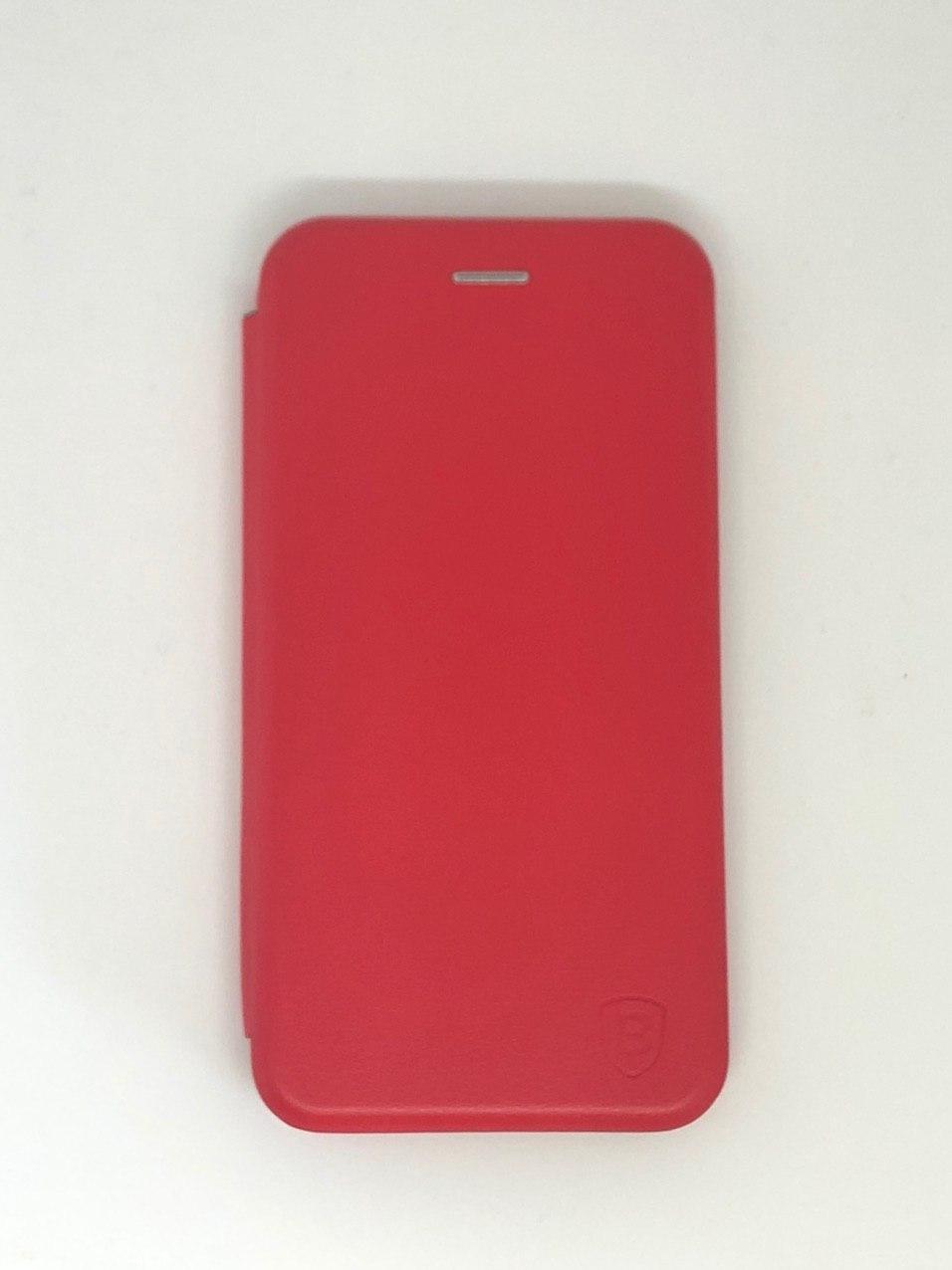 Чехол-книжка для Samsung A10 цвет красный, кожаный