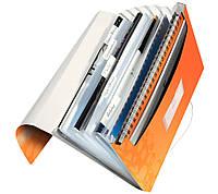"""Папка с отделениями  Leitz WOW, A4 PP, цвет """"оранжевый металлик"""", арт.45890044"""