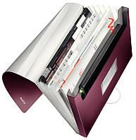 """Папка с отделениями Leitz Style, PP, 250 листов, цвет """"гранатовый красный"""", арт.39570028"""
