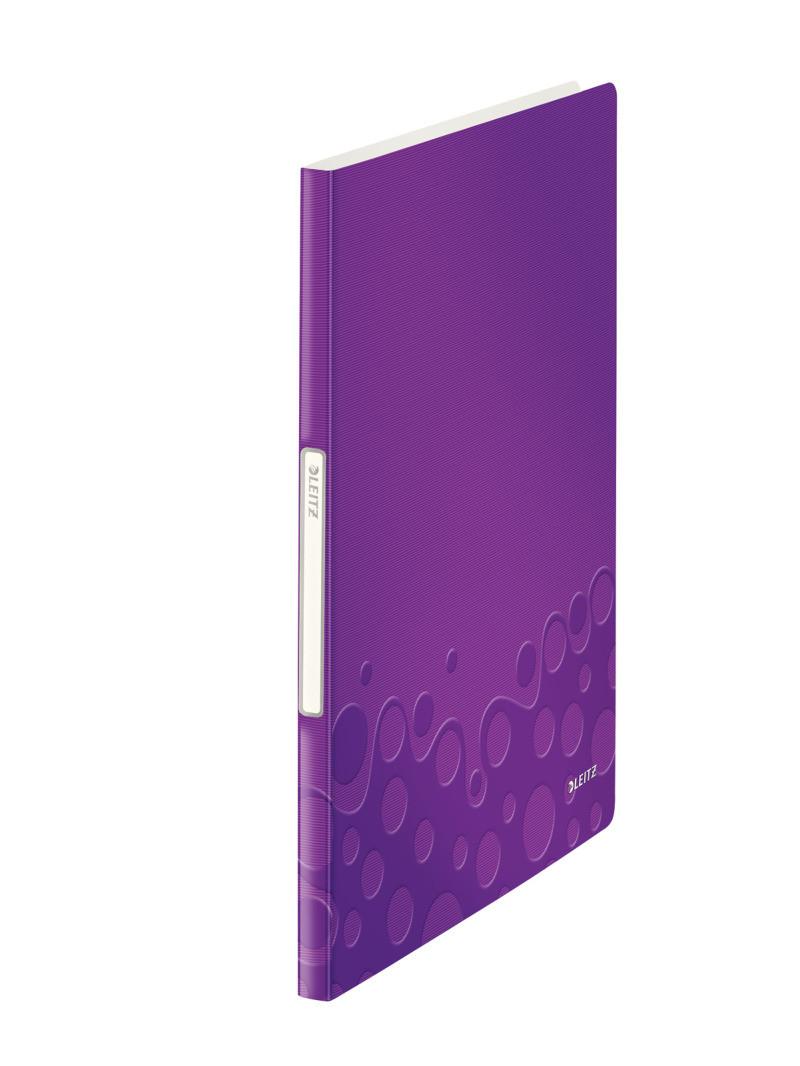 """Папка с файлами Leitz WOW  40 файлов, цвет """"фиолетовый металлик"""", арт.46320062"""