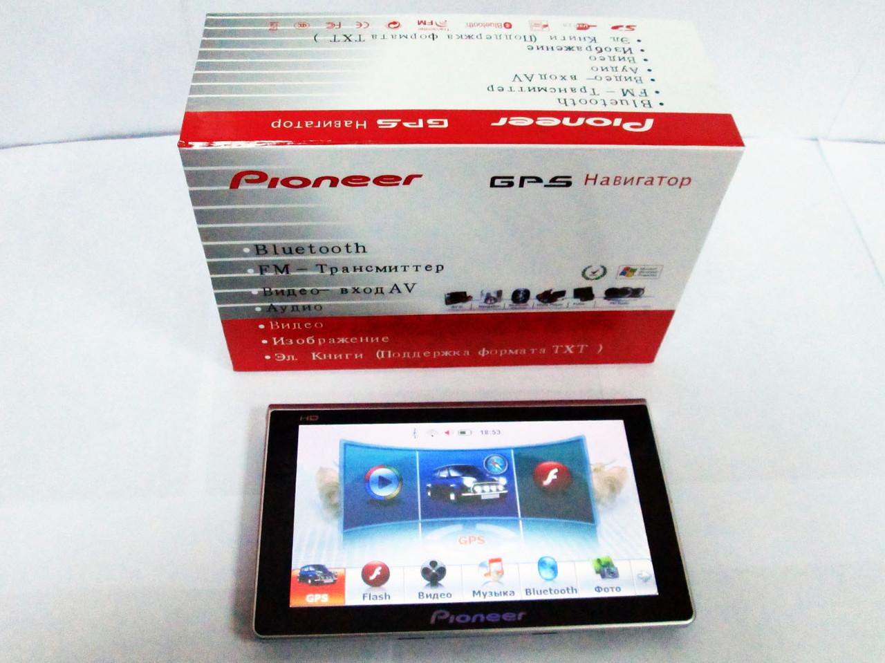 """7"""" GPS навигатор Pioneer  PI-716A 600MHz+4Gb+AV-in+BT"""