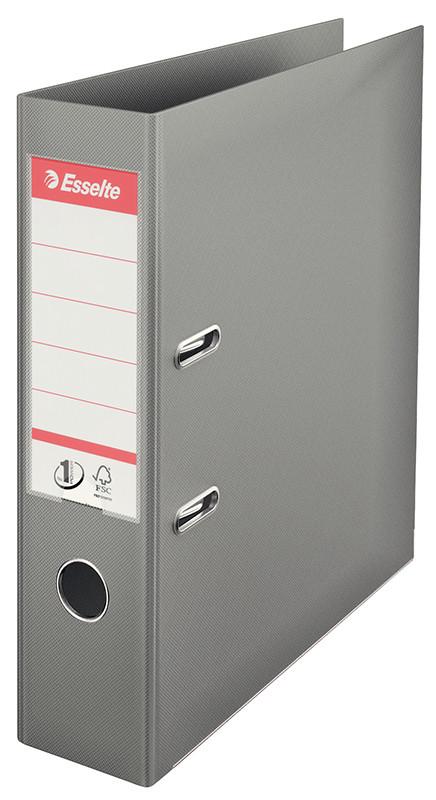 Папка-регистратор Esselte No.1 Power А4 75мм, серая, арт. 811380