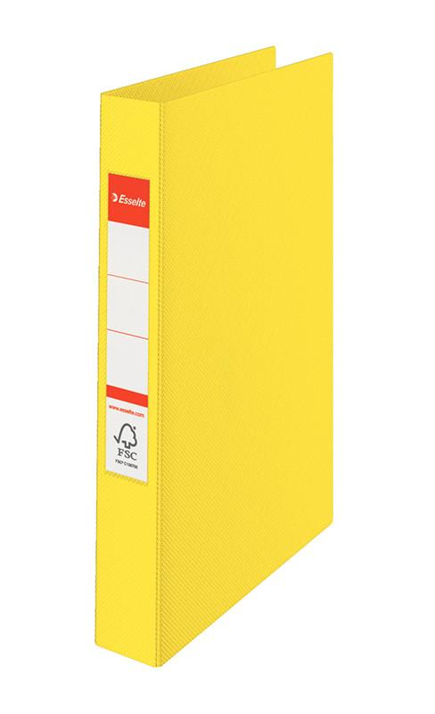 Папка-регистратор Esselte А4, 2 кольца 25мм, желтая, арт. 14450