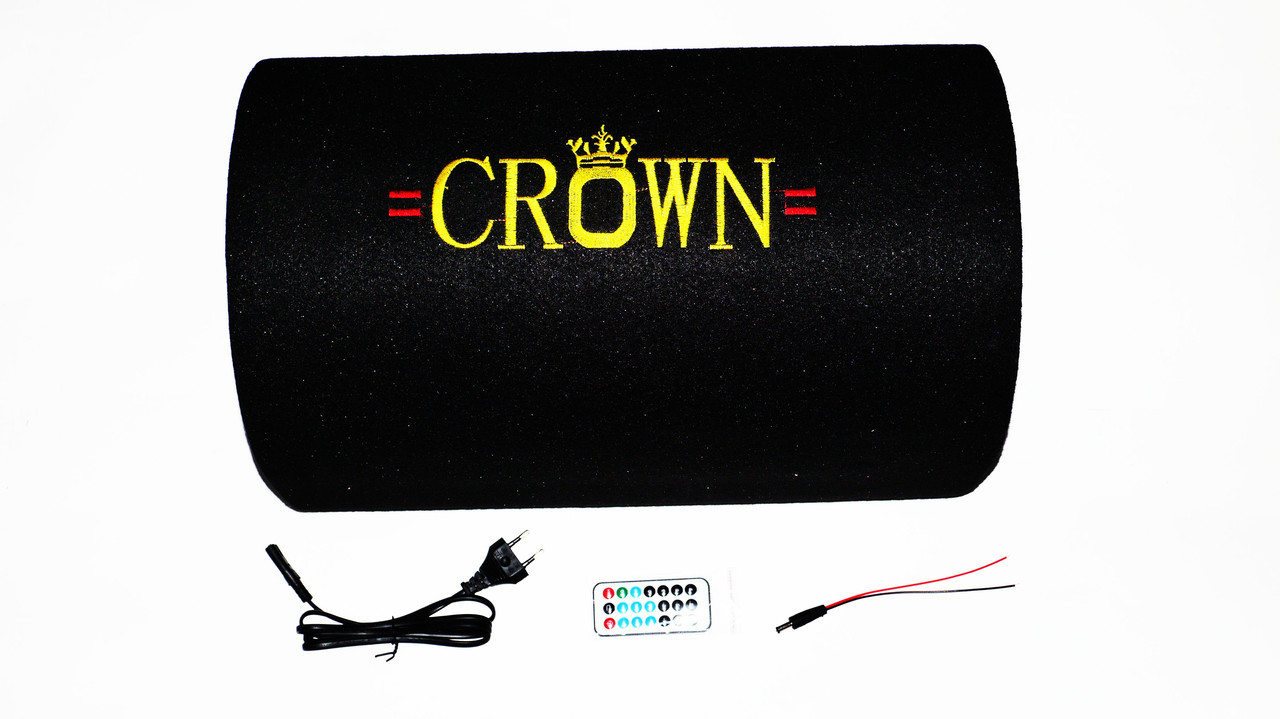 "10"" Активный сабвуфер бочка CROWN 350W + Bluetooth"