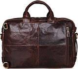 Сумка мужская Vintage 14590 кожаная Коричневая, фото 2