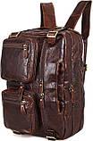 Сумка мужская Vintage 14590 кожаная Коричневая, фото 6