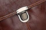 Сумка мужская Vintage 14622 кожаная Коричневая, фото 5
