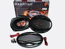 MEGAVOX MET-9674 6х9 овали (300W) трьохсмугові, фото 2