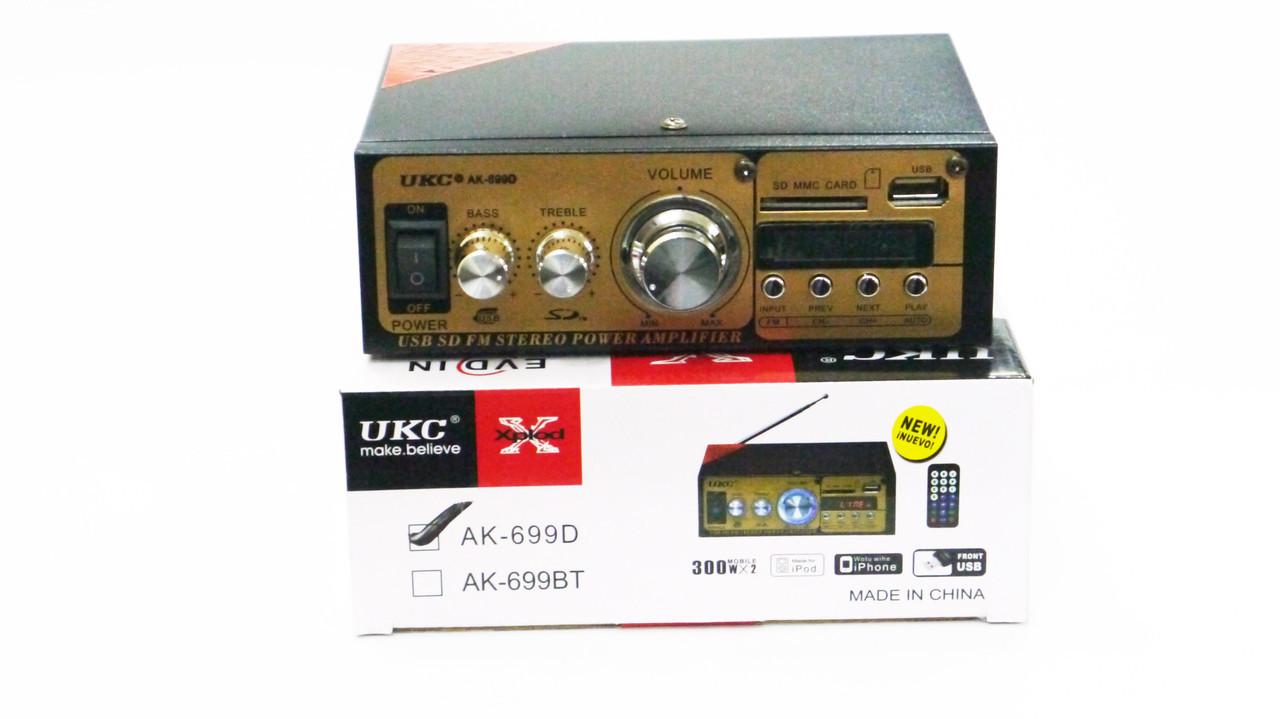 Усилитель Звука UKC AK-699D FM USB 2x300 Вт