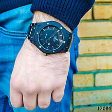 Часы мужские. Мужские наручные часы черные. Часы с черным циферблатом Годинник чоловічий, фото 2