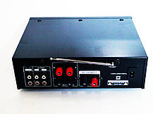 Усилитель звука UKC AV-339A + USB + Fm + Mp3 + КАРАОКЕ + Bluetooth, фото 2