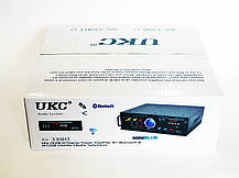 Усилитель звука UKC AV-339A + USB + Fm + Mp3 + КАРАОКЕ + Bluetooth, фото 3