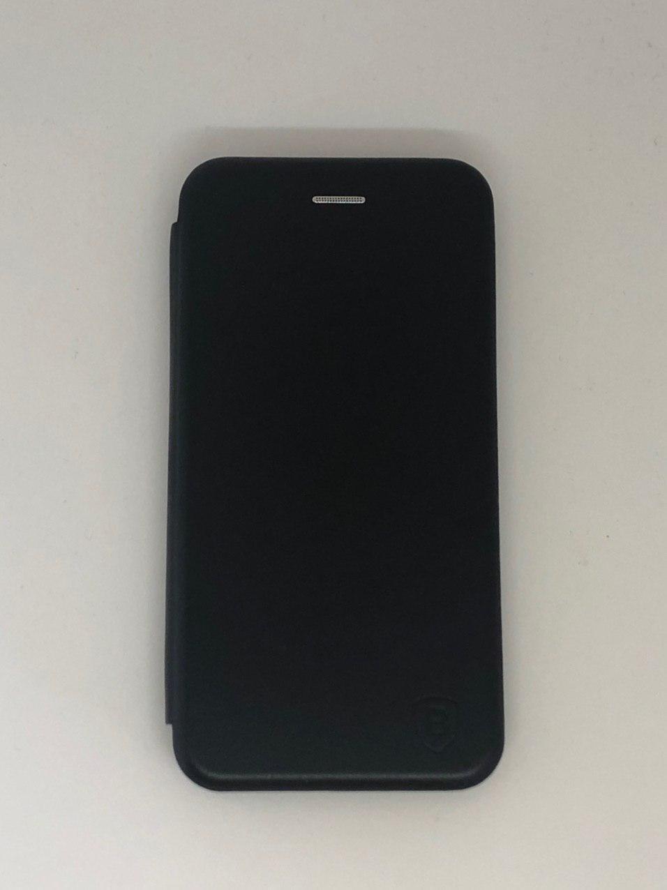 Чехол-книжка для Samsung A10 цвет черный, кожаный