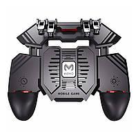 Игровой геймпад триггер Lesko AK77 с кулером охлаждения манипулятор для игр на смартфоне 1200 mAh беспроводной