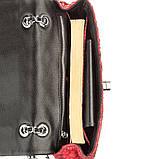 Сумка женская SNAKE LEATHER 18503 из натуральной кожи питона Красная, фото 4