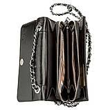Клатч женский STINGRAY LEATHER 18504 из натуральной кожи морского ската со вставками из кожи питона Черный, фото 4