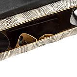 Сумка жіноча SNAKE LEATHER 18555 з натуральної шкіри кобри Сіра, Сірий, фото 4