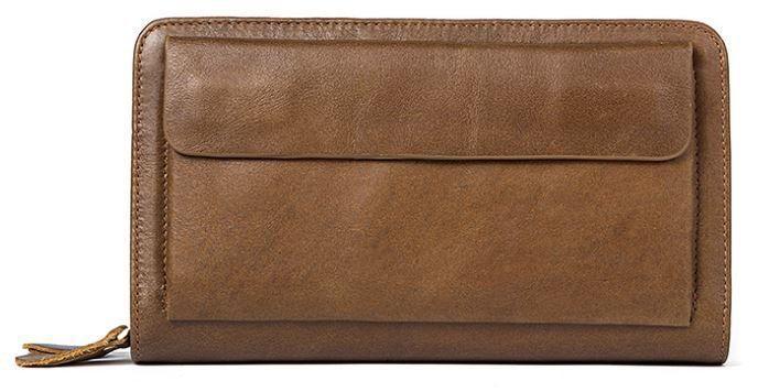 Клатч-барсетка чоловічий шкіряний Vintage 14722 Світло-коричневий